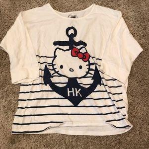 OLD NAVY hello kitty anchor 3/4 length sleeve top